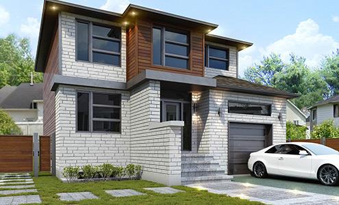 Architecture 3d montr al portfolio for Construction maison neuve montreal