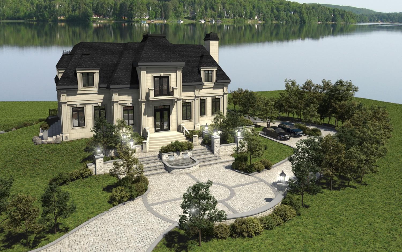 Maison 3d montr al habitation prestige 3d b ton avac pierre - Maison en pierre giordano hadamik architects ...