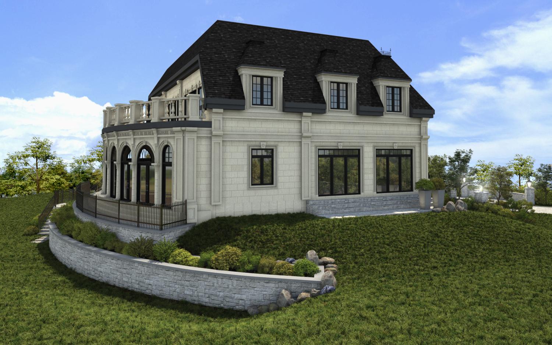 Maison 3d montr al habitation prestige 3d b ton avac pierre - Caravane d architecture ...