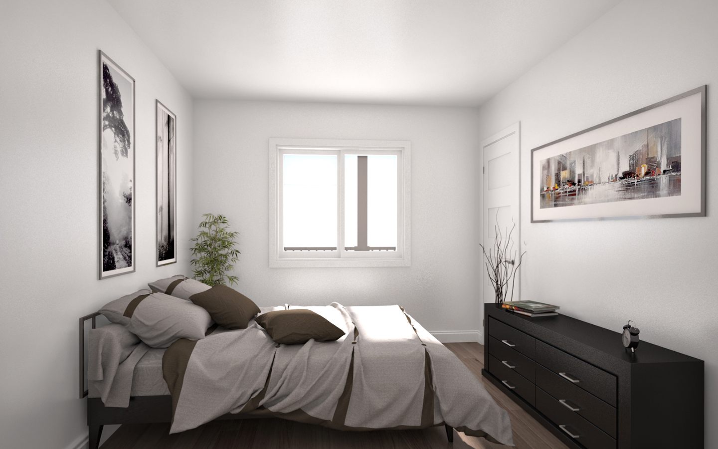chambre condo illustration 3d photor aliste montr al