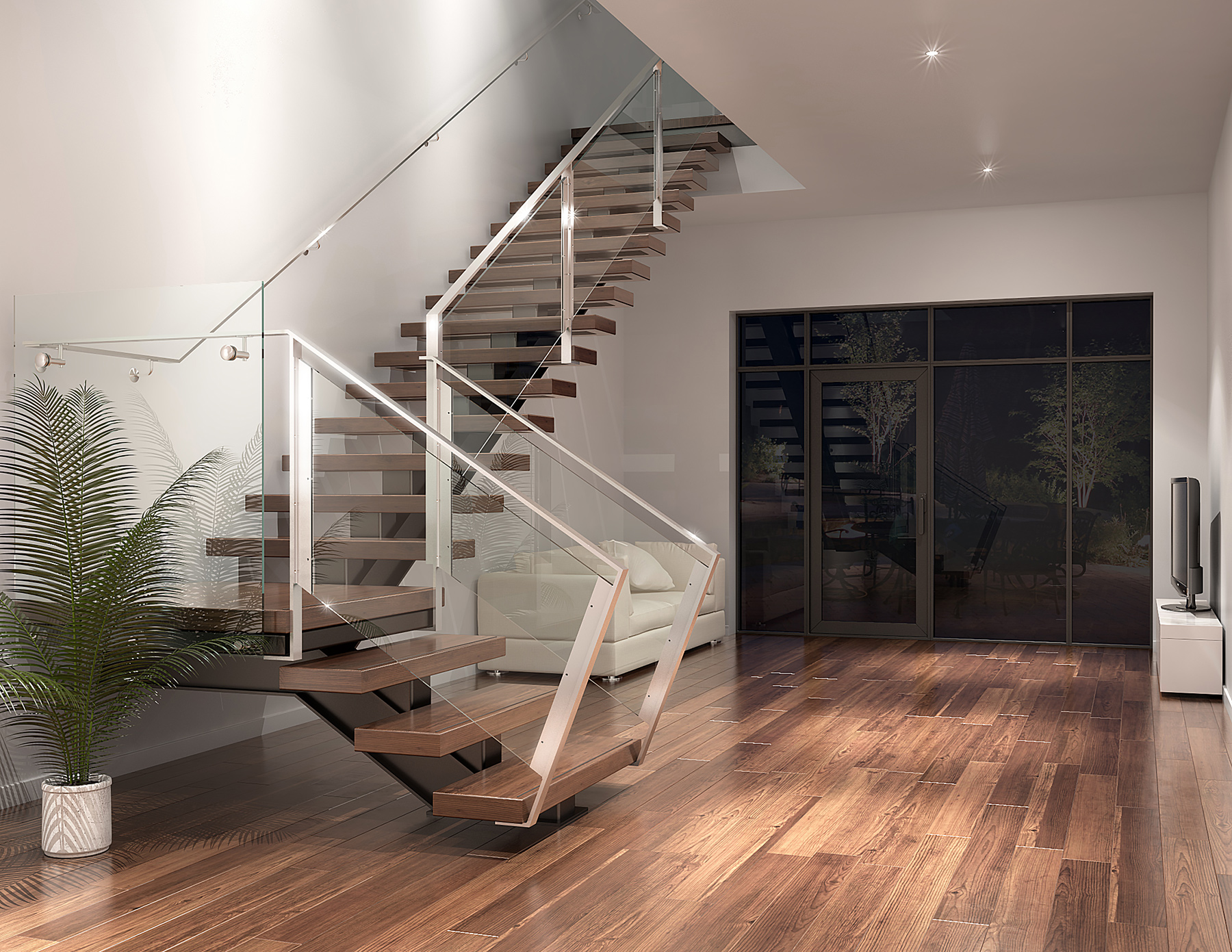 Design int rieur 3d montr al portfolio for Design escalier interieur