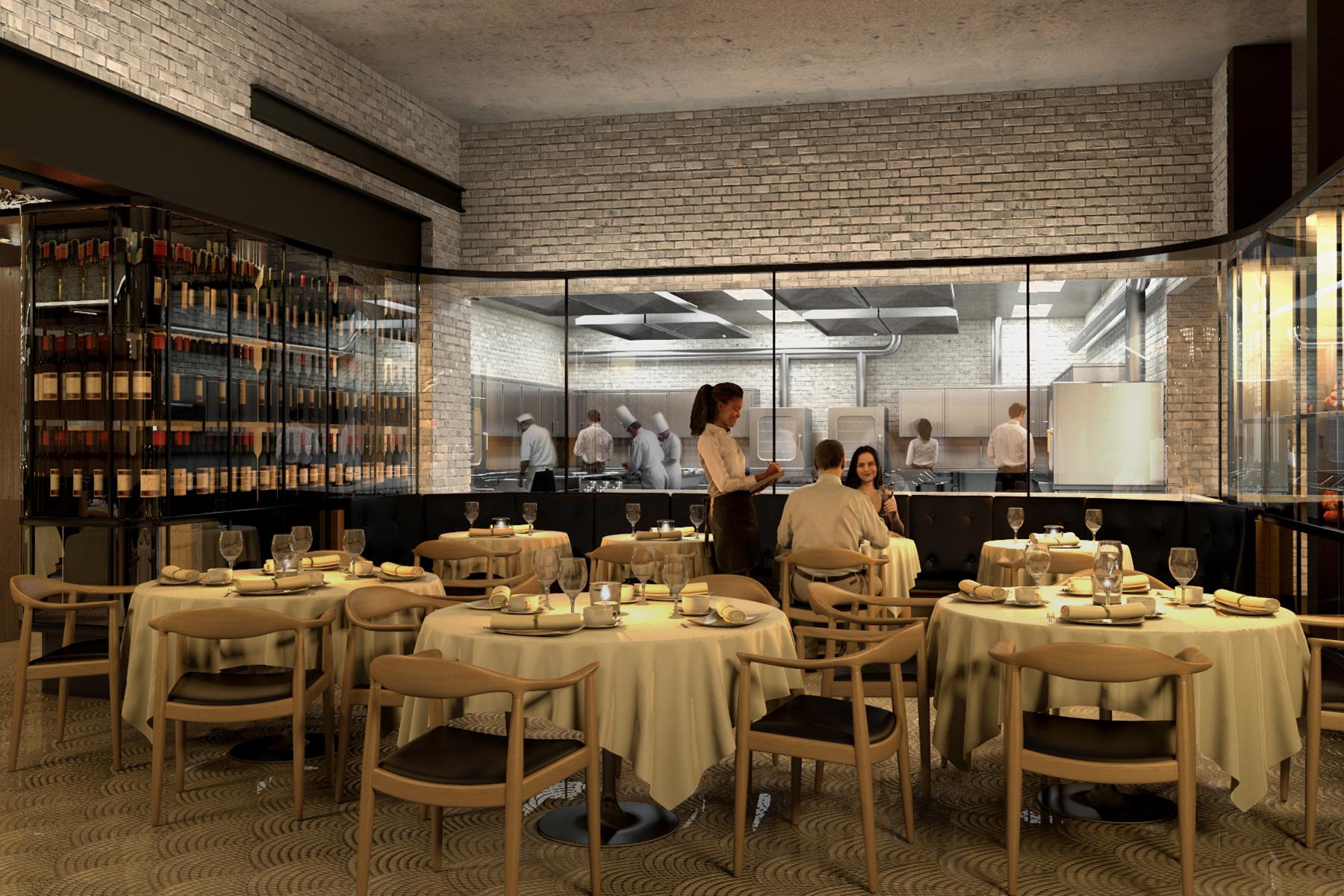 Restaurant bar salle de r ception 3d vieux montr al for Salle a diner