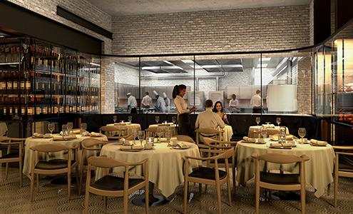 Design int rieur 3d montr al portfolio for Restaurant salle a manger montreal